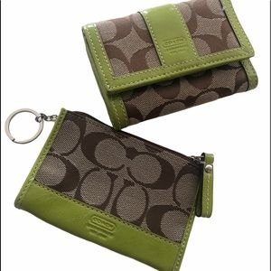 Coach wallet set  2 for one almost new
